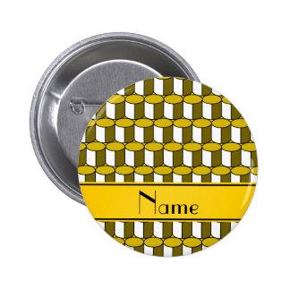 Círculos conocidos personalizados del amarillo 3d chapa redonda 5 cm
