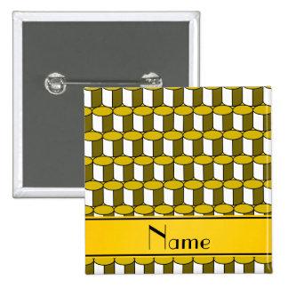 Círculos conocidos personalizados del amarillo 3d chapa cuadrada 5 cm