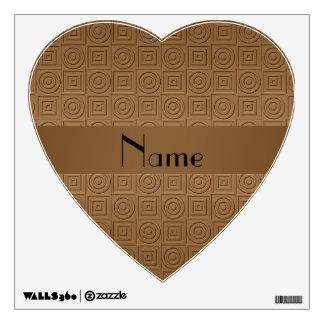 Círculos cuadrados marrones conocidos personalizad