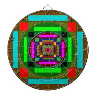 Círculos cuadrados y colores tabla dardos