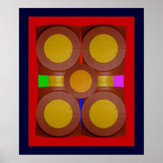 Círculos de 2-Print amarillo Impresiones