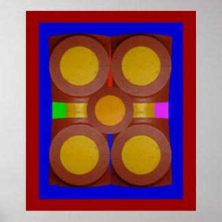 Círculos de 3-Print amarillo Impresiones