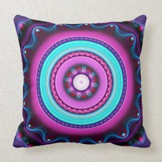 Círculos de color, almohada de tiro artística del