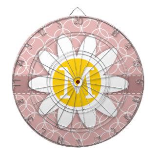 Círculos de color de malva Margarita de la primav Tablero De Dardos