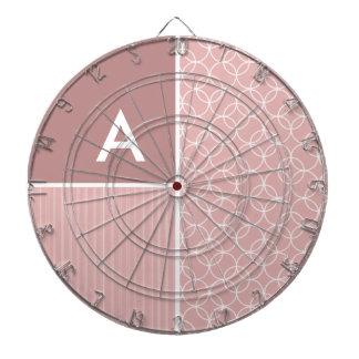 Círculos de color de malva Modelo del círculo Tablero Dardos