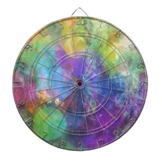 Círculos de color en colores pastel tabla dardos