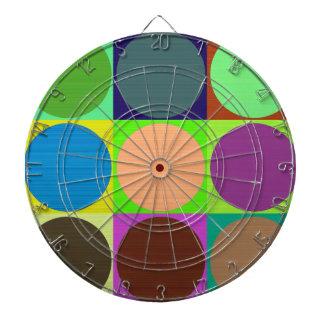 Círculos de color en cuadrados