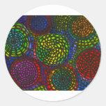 Círculos de color pegatina redonda