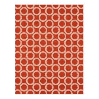 Círculos de color REALES: Energía roja rica en n d Tarjetas Postales