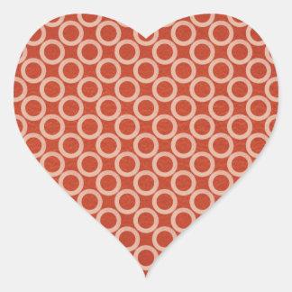 Círculos de color REALES: Energía roja rica en n Pegatina En Forma De Corazón