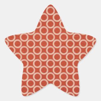 Círculos de color REALES: Energía roja rica en n Pegatina En Forma De Estrella