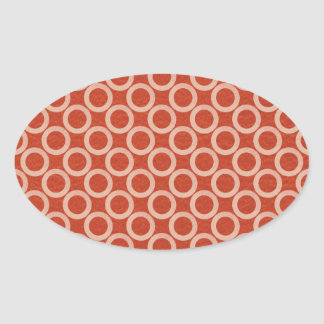 Círculos de color REALES: Energía roja rica en n Pegatina Ovalada