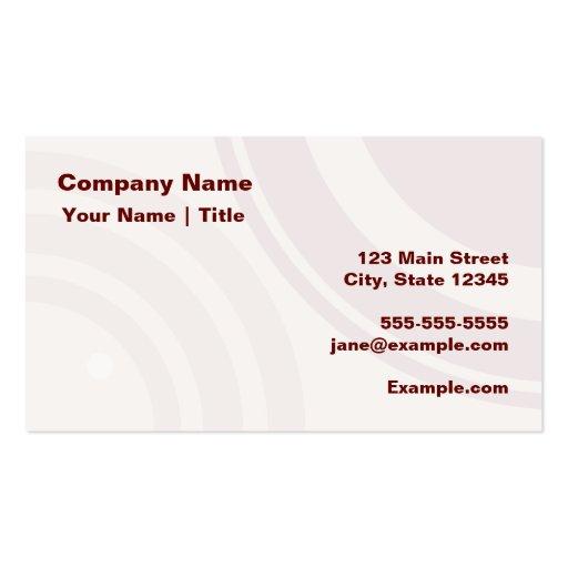 Círculos de color rojo oscuro modernos tarjetas de visita