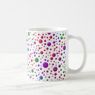 Círculos de color taza de café