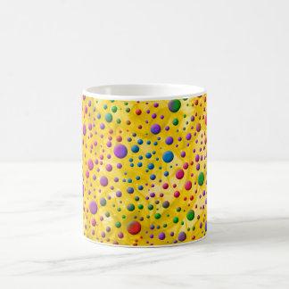 Círculos de color tazas