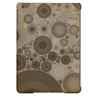 Círculos de color topo geométricos de los modelos funda para iPad air