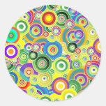 Círculos de colores pegatina redonda