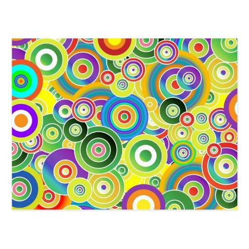 Círculos de colores postales