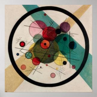 Círculos de Kandinsky en un poster de la pintura