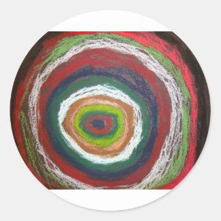 Círculos de Kandinsky Pegatina Redonda