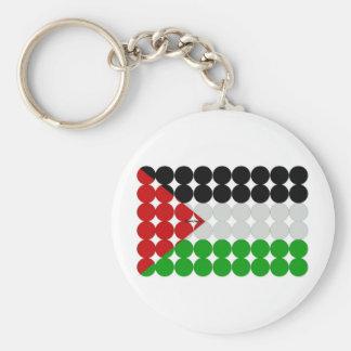 Círculos de la bandera de Palestina Llavero Redondo Tipo Pin