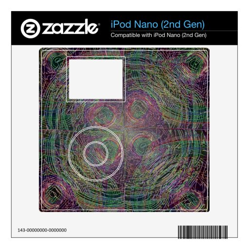 Círculos de la cosecha iPod nano skins