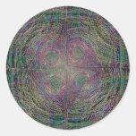 Círculos de la cosecha pegatinas redondas