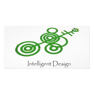 Círculos de la cosecha verde - diseño inteligente plantilla para tarjeta de foto