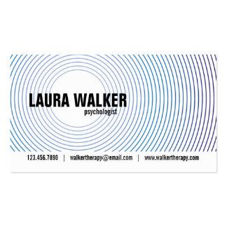 Círculos de la hipnosis - azul plantilla de tarjeta de negocio