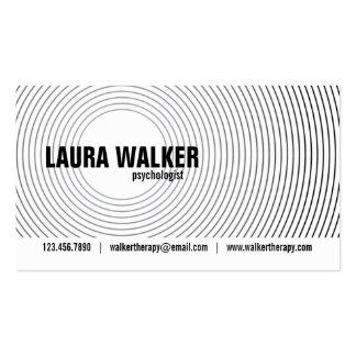 Círculos de la hipnosis - negro tarjetas de visita