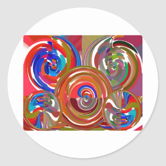Círculos de la limpieza de la aureola - mandala 7 pegatinas redondas