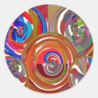 Círculos de la limpieza de la aureola - mandala 7 pegatina redonda