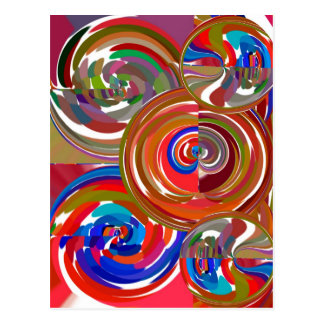 Círculos de la limpieza de la aureola - mandala 7 postal