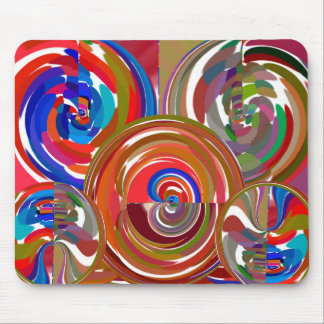Círculos de la limpieza de la aureola - mandala 7  alfombrilla de ratón