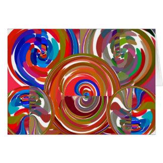 Círculos de la limpieza de la aureola - mandala 7 tarjeta de felicitación