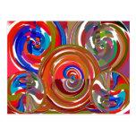 Círculos de la limpieza de la aureola - mandala 7  tarjetas postales