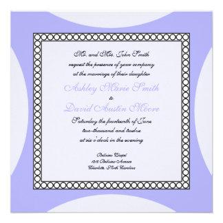 Círculos de la MOD - invitación púrpura del boda