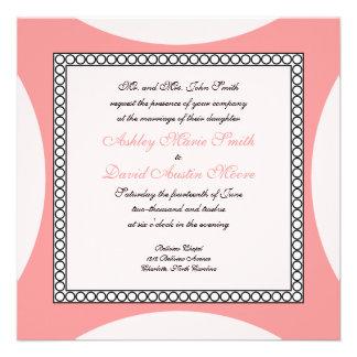 Círculos de la MOD - invitación rosada del boda