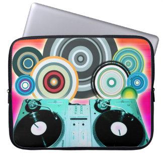 Círculos de la placa giratoria de DJ Fundas Ordendadores