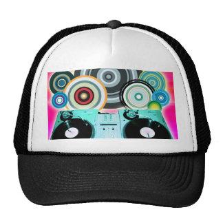 Círculos de la placa giratoria de DJ Gorro De Camionero