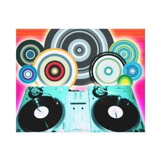 Círculos de la placa giratoria de DJ Impresiones En Lienzo Estiradas
