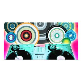Círculos de la placa giratoria de DJ Tarjeta Personal