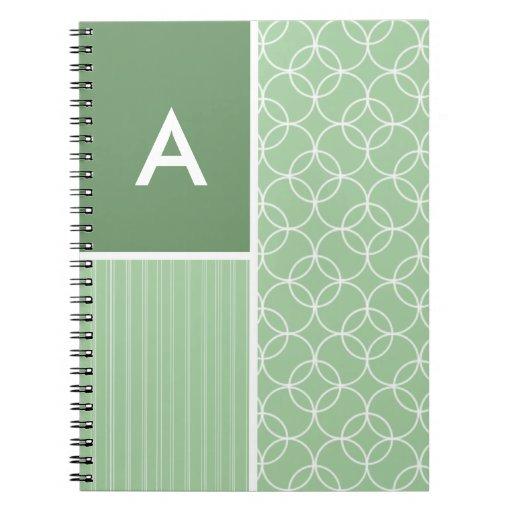Círculos de la verde salvia; Círculo Cuadernos
