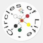 Círculos de la vida - 7Ways Etiquetas Redondas