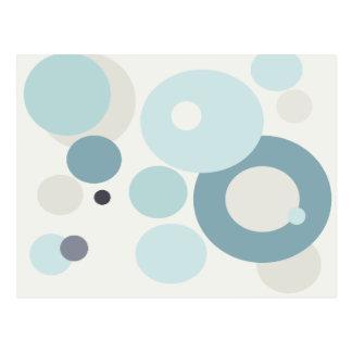 Círculos de los azules del invierno tarjetas postales