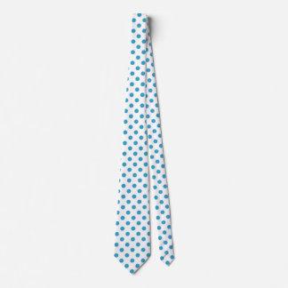 Círculos de los lunares del azul de pavo real corbatas personalizadas