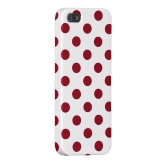 Círculos de los lunares del rojo carmesí iPhone 5 funda