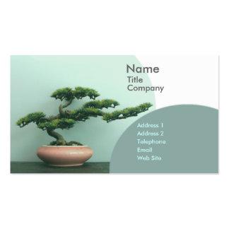 Círculos de los Plantilla-Bonsais de la tarjeta Tarjetas De Visita