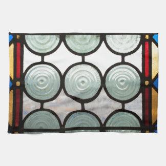 Círculos de los vitrales toallas