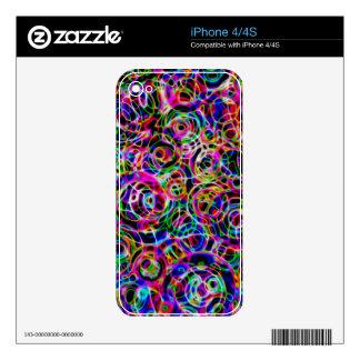 Círculos de neón skin para el iPhone 4S